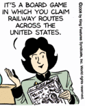Sally Forth on Ticket to Ride