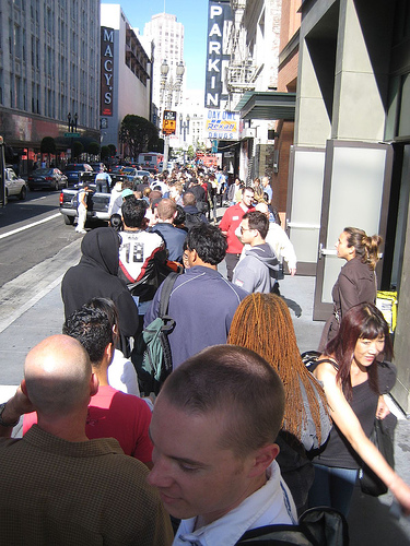 People Will Wait in Line for Something They Want